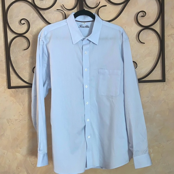 Light blue long sleeve Tasso Elba shirt